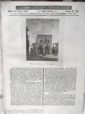 ANTICA STAMPA INCISIONE 1844 Piazza de Mercanti Bologna Le Tombe Oreste Carrer