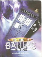 Doctor Who Battles In Time Invader 555-600 Common & Rare Trading Cards