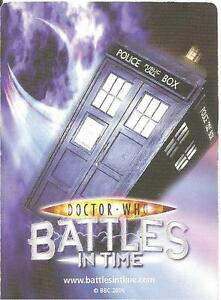 Dr Who Battles In Time Exterminator 061-120 Common & Rare Trading Cards