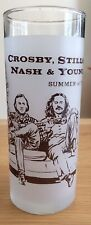 RARE  1974 CROSBY STILLS NASH & YOUNG CELEBRITY OWNED  PROMO GLASS