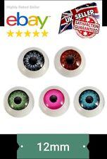 """NEW"""" 12mm Doll Stuffed Doll Eyeball Half Round Acrylic Eyes for Doll Bear Crafts"""