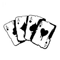 Poker Graphic Car Sticker Reflective Auto Bumper Window Motorcycle Decal S1