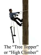 Highclimber / Tree Topper climbing tree.S Scale Finsihed Logging Figure