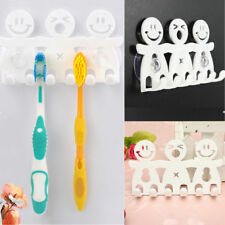 Cute Stand Toothbrush Holder Wall Mount Hanger Home Bathroom Suction Grip Rack