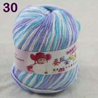 Sale 1ballx50g Soft Baby Cashmere Silk Wool Hand Knit Children Sweaters Yarn 30