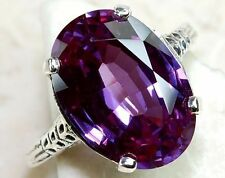 Fashion Women Jewelry Amethyst Gemstone 925 sterling silver Ring k855 Size 10