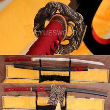 Japanese Sword 1060 Carbon Steel Full Tang Samurai Katana Sharp Dragon Tsuba