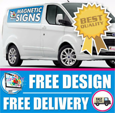 2x MAGNETIC SIGNS MOTORWAY GRADE VEHICLE, VAN, CAR FULL COLOUR PRINTED MAGNETIC