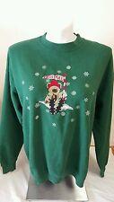 Ugly Christmas Sweater Sweatshirt Women's B-Wear Green Bear North Pole Size XL