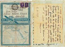 Z18062-TOSCANA, FIRENZE, POSTA AEREA PER L' ETIOPIA, 1937
