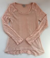 Women's Lucky Brand Peach Waffle Thermal Knit Scoopneck Top-Size M