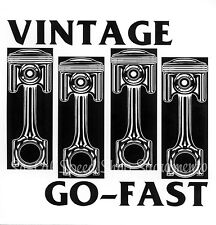 VINTAGE GO-FAST STICKER DECAL BLACK FLAG HOT ROD RAT CUSTOM GASSER PISTON CUSTOM