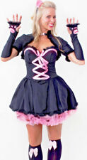 Womens Sexy Pink Pussy Cat Fancy Dress Costume Size 12-14