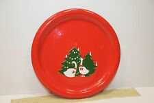 Waechtersbach Red Christmas GEESE Tree SALAD DESSERT PLATE Germany 8""