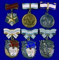 Vintage Soviet Russian USSR WW2 Set 6 Mother Hero Enameled Medal Order Badge