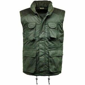 Men' Multi Pocket Lined Padded Gilet Bodywarmer Lightweight   Work Wear  Outdoor