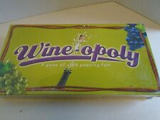 Wine Opoly Board Game New Sealed in Plastic Cork Popping Trading