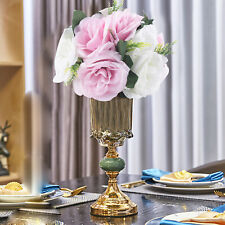 11 Heads Artificial Roses Flowers Arrangement Silk Bouquet for Home Office Party