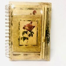 Raymond Waites Rose Diary Notebook Set With Lock And Keys