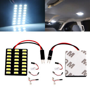 10Pcs 24 LED 5630 SMD Car Panel Light Bulb T10 + BA9S + Festoon Dome Lamps 12V
