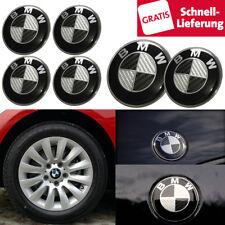 6 tlg. BMW Emblem 82 74 68mm Vorne Hinten Motorhaube Kofferraum Nabendeckel Set