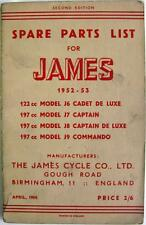 JAMES J6, J7, J8, J9 - Motorcycle Parts List - Apr 1954 -#J6789/54