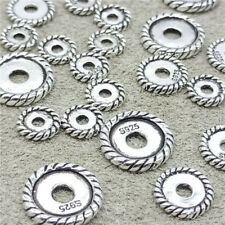 20pcs 10pcs 5pcs of 925 Sterling Silver Tire Spacer Beads  6mm 8mm 10mm
