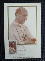 VATICAN MK 1968 PAPST PAUL POPE PAPA PAPIEZ MAXIMUMKARTE MAXIMUM CARD MC c4423