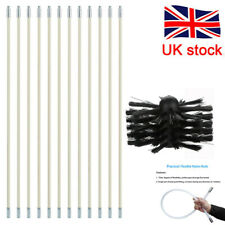 Flexible Chimney Cleaning Brush Rotary Sweep Fireplace Kit Cleaner Rod Tool X3N5