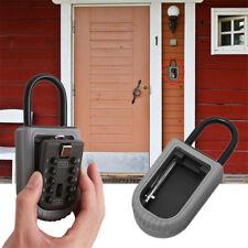 Outdoor Wall Mounted Key Box Combination Keys Holder Lock Home Security Padlock