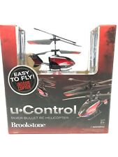 NEW BROOKSTONE U CONTROL SILVER BULLET RC HELICOPTER EASY TO FLY INDOOR