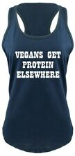 Ladies Vegans Get Protein Elsewhere Racerback Food Sex Vegetarian