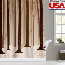 Tree Trunk Forest Fabric Shower Curtain Bathroom Curtain Brown 72x72&12Hooks