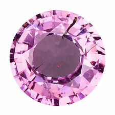Pink Round Transparent Loose Sapphires