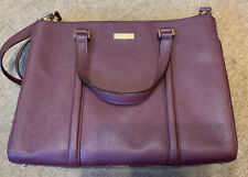 Used Once Kate Spade Maroon Leather Large Bag & Long Shoulder Crossbody Strap