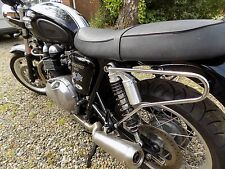 TEC Chrome Pannier / Saddle Bag Bars- Triumph (Aircooled) Bonneville SE Thruxton