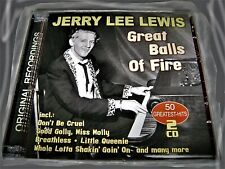 JERRY LEE LEWIS - GREAT BALLS OF FIRE > 50 GREATEST-HITS 2CDs | OVP | 111austria