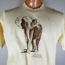 """Vintage 80s San Diego Zoo Tshirt 42"""" Chest Made In Usa Elephant"""