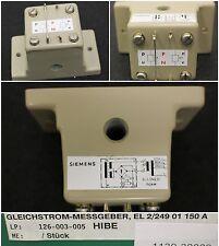 Siemens gleichstrommessgeber el2/249, 01 150aw