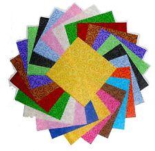"60 5"" Quilting Fabric Squares Beautiful Curly Swirls Tonals !!!!!"