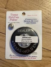 Texas Hold Em Poker Combination Dealer Button And Timer