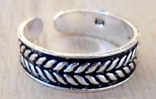 Band Feather Midi Surf womens new Toe Ring Sterling Silver 925 Adjustable Solid