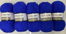 YarnArt Jeans Plus Aran 5 X 100g Knitting Crochet Yarn Royal Blue