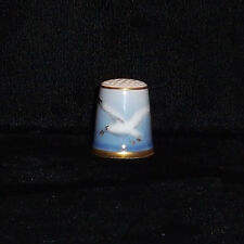 Royal Copenhagen Denmark Thimble Sea Gull With Gold Trim New