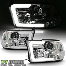2009-2018 Dodge Ram 1500 2500 3500 LED Light Tube Projector Headlights Headlamps