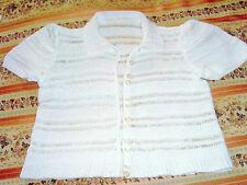 Corsage chemisier Blanc En Coton Tricoté ou au crochet à la main 6-8 ans