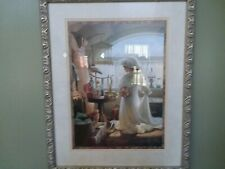 Homco Home Interior Little Girl Playing Dress Up In Wedding Gown Picture