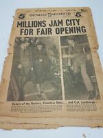 Vintage Newspaper New York Sunday Mirror April 30 1939 Opening NY Worlds Fair