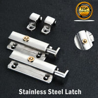 3/ 4/ 6 Inch Stainless Steel Sliding Lock Barrel Bolt Silver Door Latch