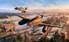 Return of the Hunters by Nicolas Trudgian autographed by Luftwaffe Fighter Aces